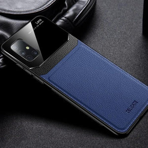 Galaxy A31 Sleek Slim Leather Glass Case