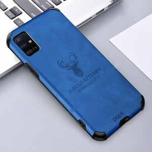 Galaxy M31s Shockproof Deer Leather Texture Case