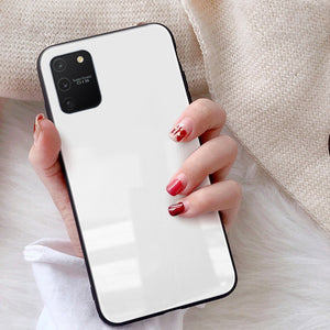 Galaxy S10 Lite (3 in 1 Combo) Glass Back Case + Tempered Glass + Camera Lens Guard
