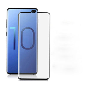 Galaxy S10 Plus (3 in 1 Combo)  Ring Case + Tempered Glass + Camera Lens Guard