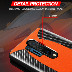 OnePlus 8/8 Pro (3 in 1 Combo) Mc Laren Carbon Case + Screen & Lens Protector
