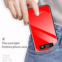Load image into Gallery viewer, Galaxy S10 Plus (3 in 1 Combo) Glass Back Case + Tempered Glass + Camera Lens Protector