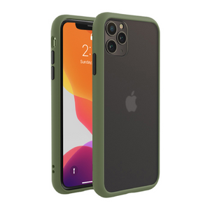 iPhone 11 Series (3 in 1 Combo) Matte Shockproof Case + Tempered Glass + Camera Lens Protector