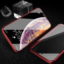 Load image into Gallery viewer, iPhone XS (Front+Back) Protection Magnetic Fit Case