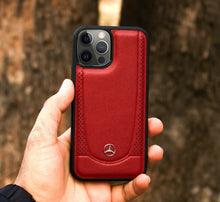 Load image into Gallery viewer, Mercedes Benz ® iPhone 12 Pro Genuine Leather Case