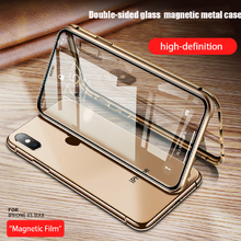 Load image into Gallery viewer, Apple iPhone X Series (Front+Back) Protection Magnetic Fit Case