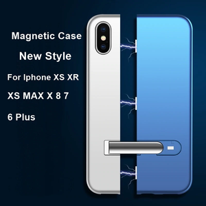 iPhone XS Auto-Fit Magnetic Colour Contrast Kickstand Case