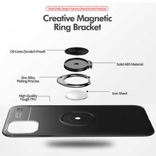Load image into Gallery viewer, Galaxy S10 Lite Metallic Finger Ring Holder Matte Case