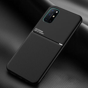 OnePlus 8T Carbon Fiber Twill Pattern Soft TPU Case