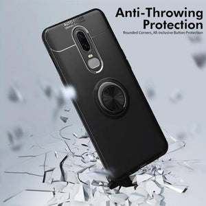 OnePlus 6 (3 in 1 Combo) Ring Case + Tempered Glass + Camera Lens Protector
