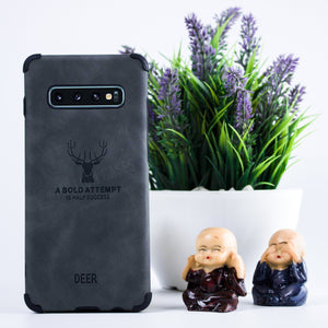 Galaxy Note 9 Shockproof deer leather texture Case