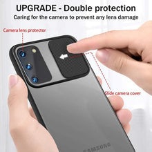 Load image into Gallery viewer, Galaxy S20 Camera Lens Slide Protection Matte Case