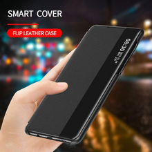 Load image into Gallery viewer, Galaxy Note 20 Ultra Half View Flip Stand Case