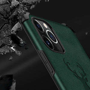 iPhone 11 Shockproof Deer Leather Texture Case