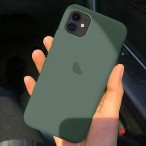 iPhone 11 Pro - Genuine Silicone Logo Case + Tempered Glass
