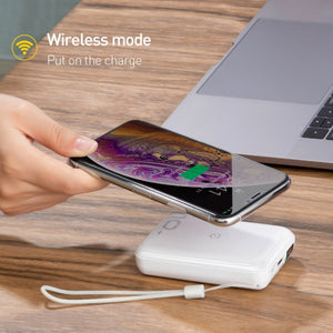 Baseus - Mini S Bracket 10000 mAh Quick Wireless Charger + Power Bank