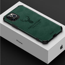 Load image into Gallery viewer, iPhone 11 Pro Shockproof Deer Leather Texture Case