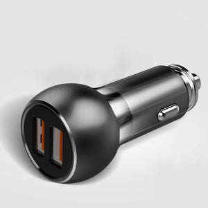 LDNIO ® Lightning Ring Dual Port Metal Car Charger