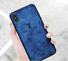 Load image into Gallery viewer, iPhone XS Max Deer Pattern Inspirational Soft Case