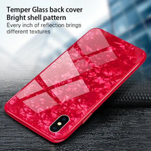 Load image into Gallery viewer, iPhone X Dream Shell Textured Marble Case + Tempered Glass + Camera Lens Guard