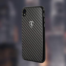 Load image into Gallery viewer, Ferrari ® iPhone XR Carbon Fiber Protective Case