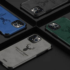 iPhone 11 Pro Shockproof Deer Leather Texture Case