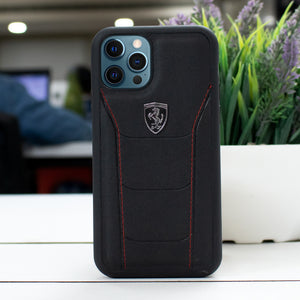 Ferrari ® iPhone 12 Pro Genuine Leather Crafted Limited Edition Case