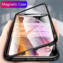 Load image into Gallery viewer, iPhone XR Electronic Auto-Fit Magnetic Transparent Glass Case