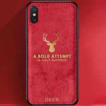 Load image into Gallery viewer, iPhone XR Luxury Gold Textured Deer Pattern Soft Case