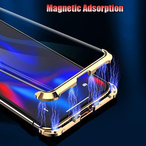 iPhone XR Frameless Auto-Fit (Front+ Back) Magnetic Glass Case