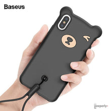 Load image into Gallery viewer, Baseus ® iPhone XS Max Bear Design Silicone Case