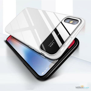 iPhone X (3 in 1 Combo) Lens Case + Tempered + Camera Lens Guard