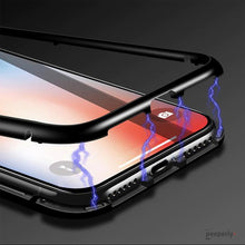 Load image into Gallery viewer, iPhone XS Max Electronic Auto-Fit Magnetic Transparent Glass Case