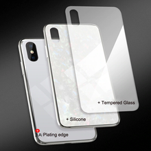 Load image into Gallery viewer, iPhone X Dream Shell Series Textured Marble Case