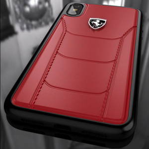 Ferrari ® iPhone XS Max Genuine Leather Crafted Limited Edition Case