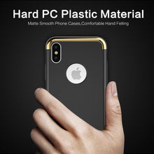Load image into Gallery viewer, iPhone XS Metal Plating Hard Matte Back Case