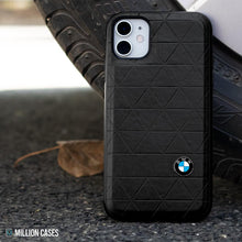 Load image into Gallery viewer, BMW ® iPhone 11 Genuine Leather Texture Case
