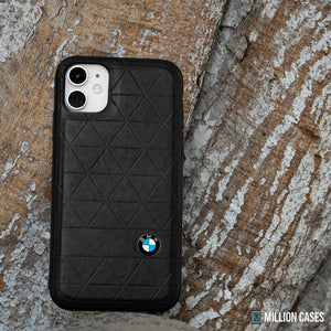 BMW ® iPhone 11 Genuine Leather Texture Case