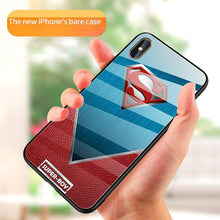 Load image into Gallery viewer, iPhone XS Super Hero Series Glass Back Case