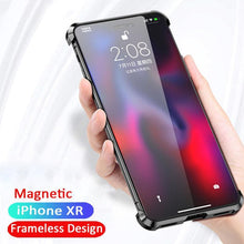 Load image into Gallery viewer, iPhone XR Frameless Auto-Fit (Front+ Back) Magnetic Glass Case