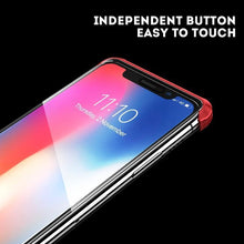 Load image into Gallery viewer, iPhone X Frameless (Front+ Back) Magnetic Glass Case + Tempered Glass + Camera Lens Guard