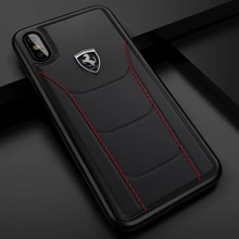 Load image into Gallery viewer, iPhone X Series (3 in 1 Combo) Ferrari Case + Tempered Glass + Camera Lens Guard
