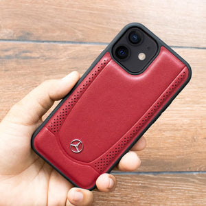Mercedes Benz ® iPhone 12 Mini Genuine Leather Case