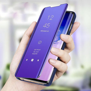 OnePlus 8 Mirror Clear View Flip Case [Non Sensor Working]