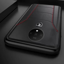 Load image into Gallery viewer, OnePlus 7T (3 in 1 Combo) Ferrari Leather Case + Tempered Glass + Camera Lens Guard
