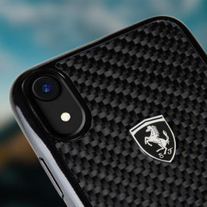Ferrari ® iPhone XR Carbon Fiber Protective Case