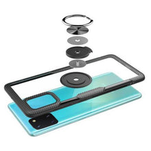 Load image into Gallery viewer, Galaxy Note 10 Lite Shockproof Transparent Metallic Ring Holder Case