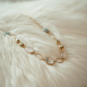 Layered necklace with Gemstones-Veezha