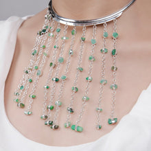 Load image into Gallery viewer, Baran Emerald Necklace-Veezha