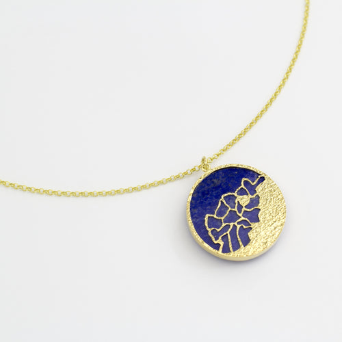 Watan Pendant-Double Sided Lapis